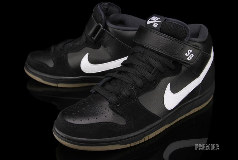 brand new 39982 a73c4 Nike SB Dunk Mid Pro - Black / White / Gum | Sole Collector