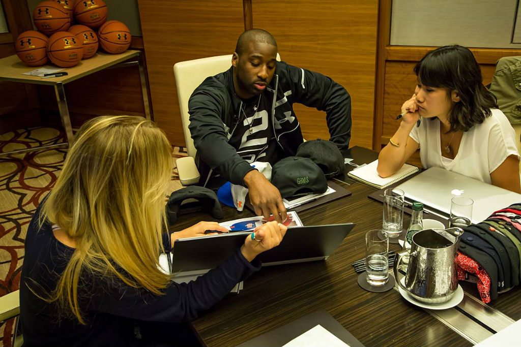 Raymond Felton Visits Under Armour Campus & Brandhouse (4)