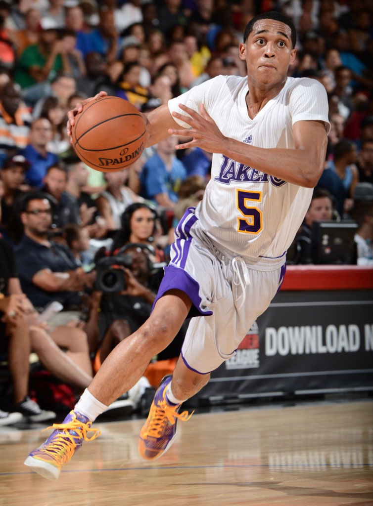 Jordan Clarkson wearing Nike Kobe IX 9 Elite Showtime
