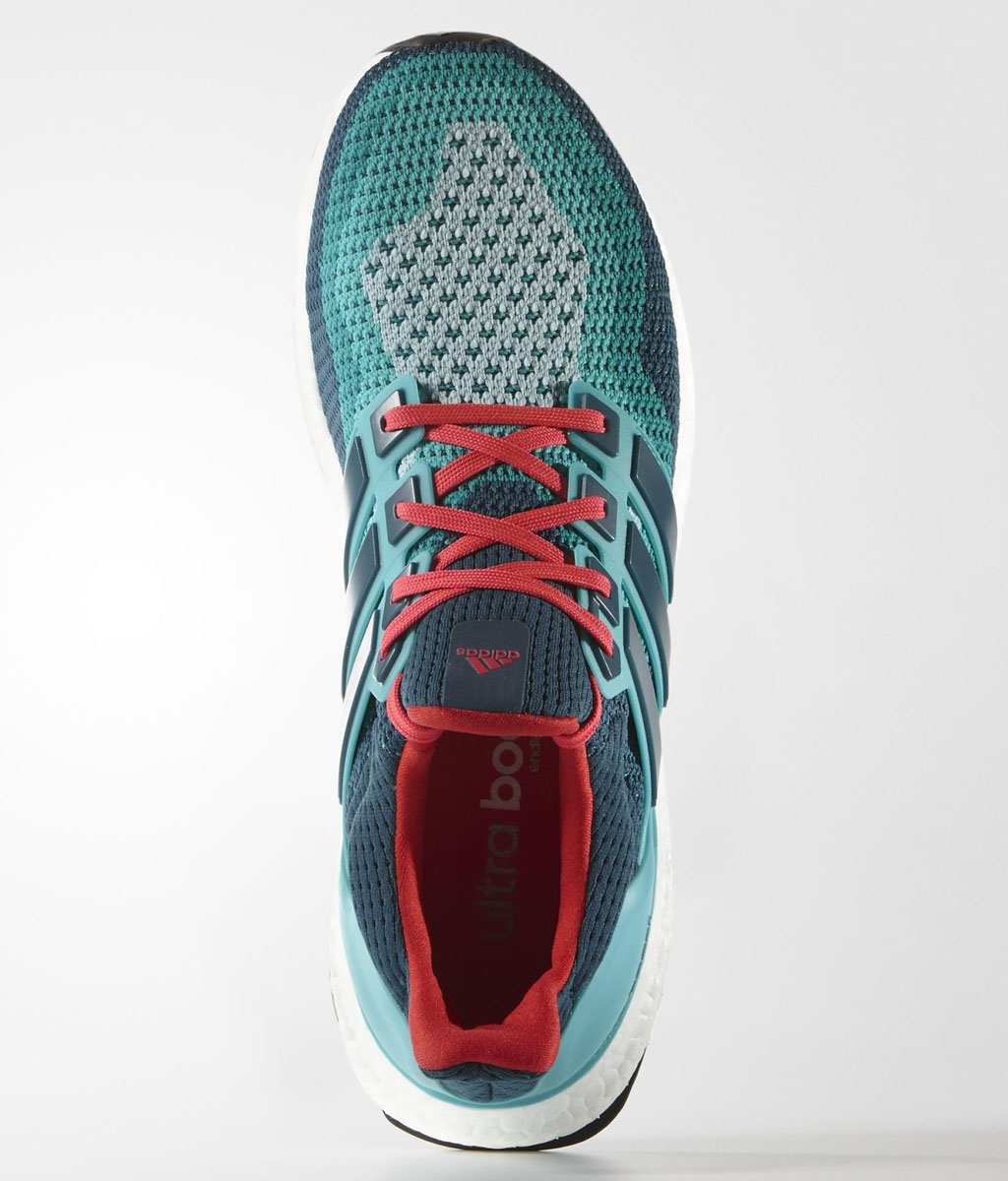adidas Ultra Boost 2016 Wave Blue/Teal-Red (2)