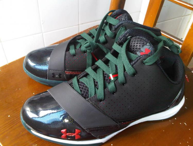 Under Armour Micro G Black Ice Black Green Red