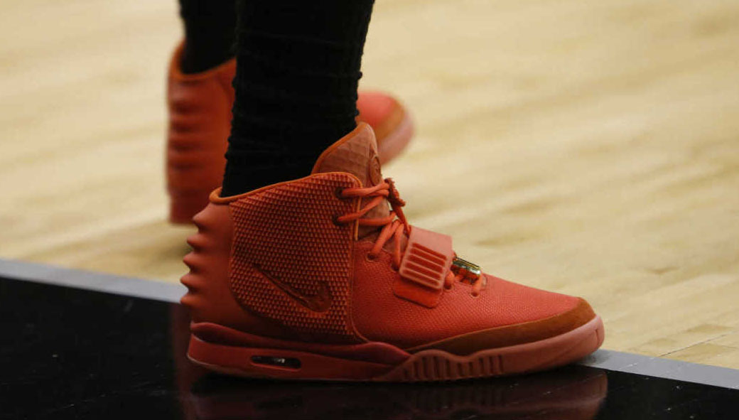 LeBron James wearing Nike Air Yeezy II 2 Red October (8)