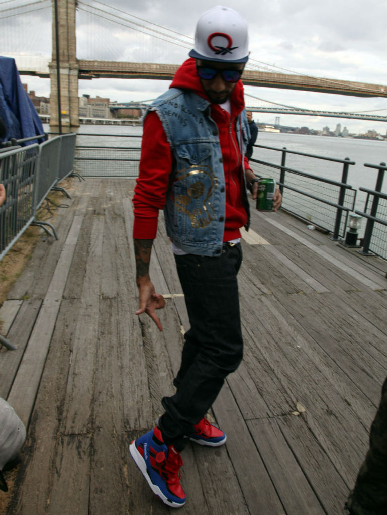 Swizz Beatz wearing Reebok Twilight Zone Pump Spider Man (3)