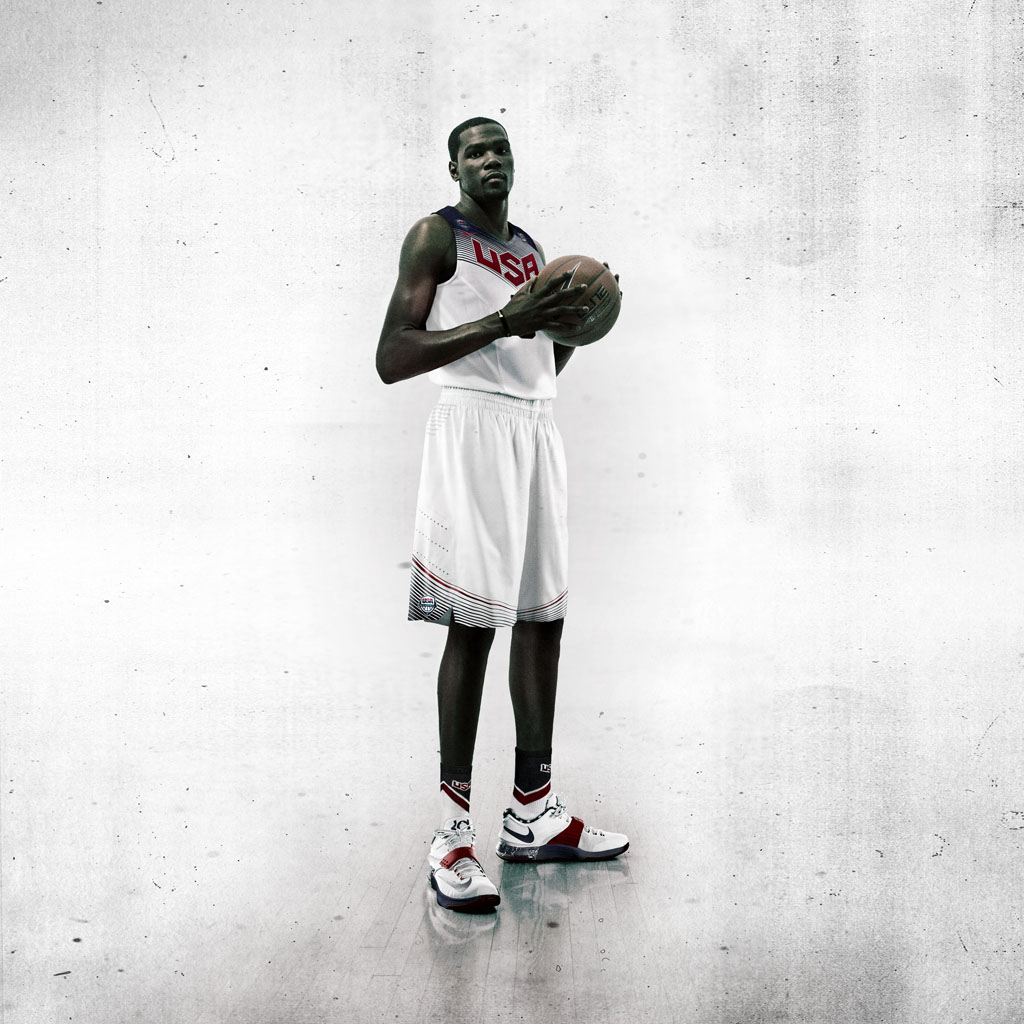 Nike Basketball Unveils 2014 USA Basketball Uniforms - Kevin Durant (3)
