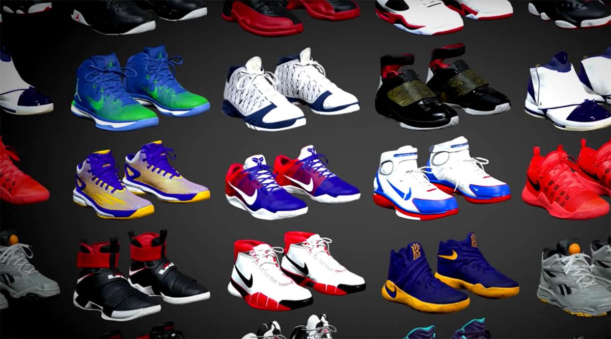 592a9e05bf8 NBA 2K17 Sneaker Collection