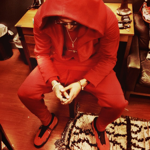 d3ef8d4eb0972c Chris Brown wearing Air Jordan XIV 14 Ferrari