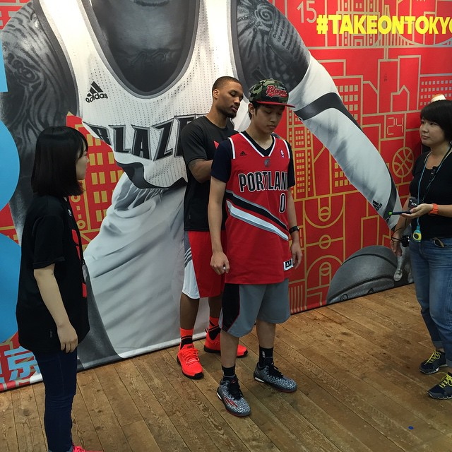 Dame Lillard wearing the 'Take On Summer' adidas D Lillard 1