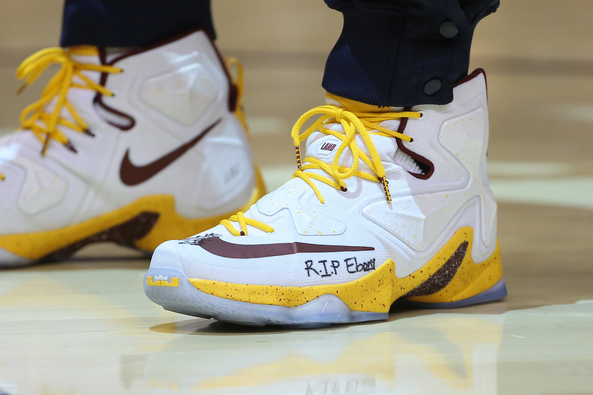 LeBron James Wrote a Message to a Late Friend On His Sneakers Last ... 45e54b1d7