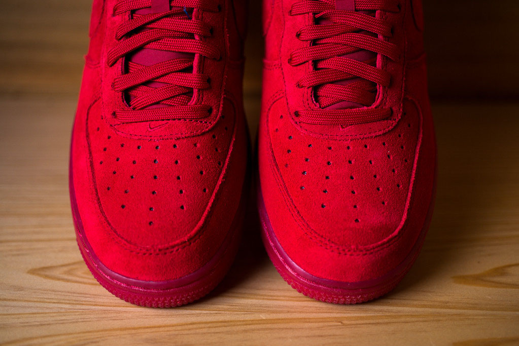 Nike Air Force 1 Low Red Suede (7)