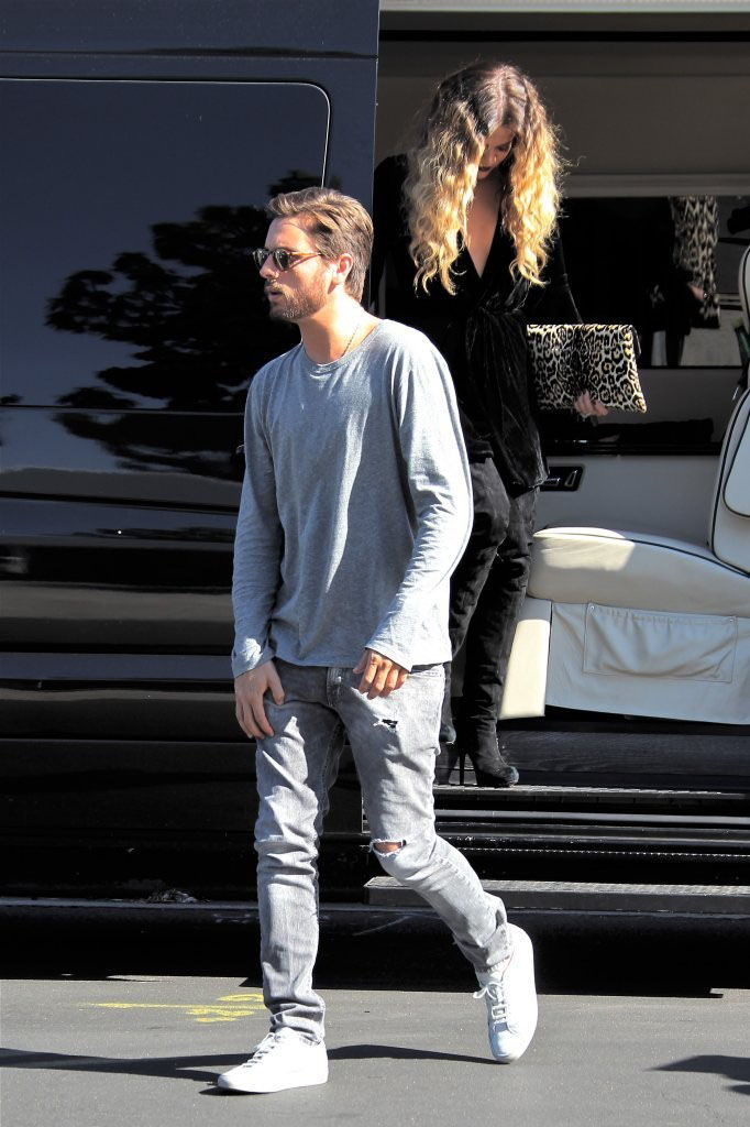 Scott Disick wearing Common Projects Achilles Low White