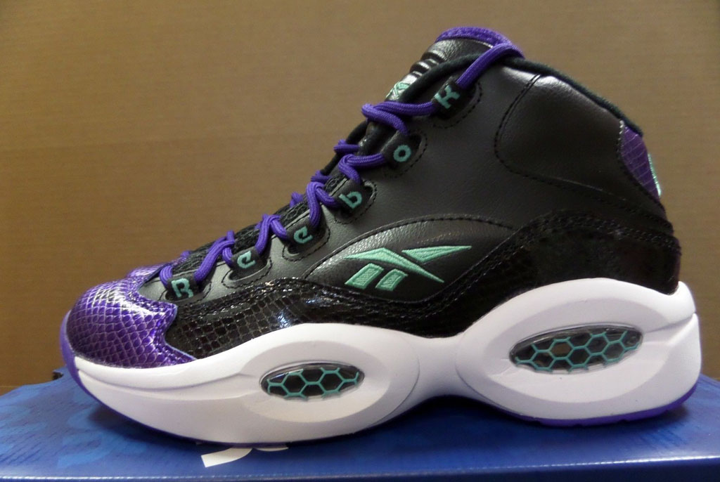 Reebok Question GS Black/Purple-Emerald Snake