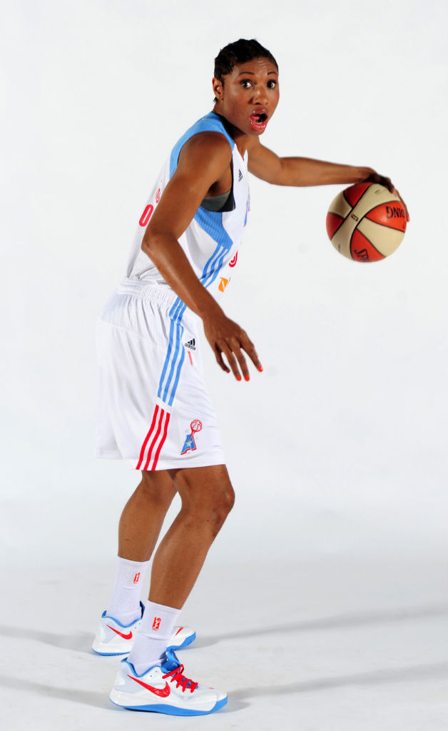 Angel McCoughtry wearing Nike Zoom Hyperfuse 2012 Low PE