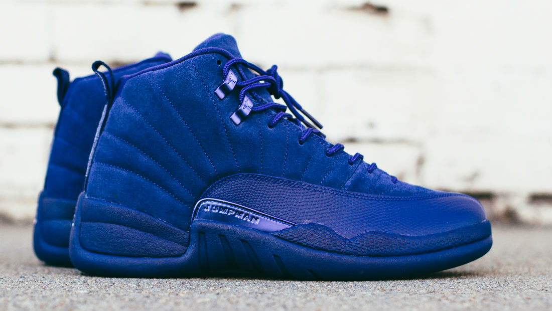Air Jordan 12 Blue Suede Side 130690-400