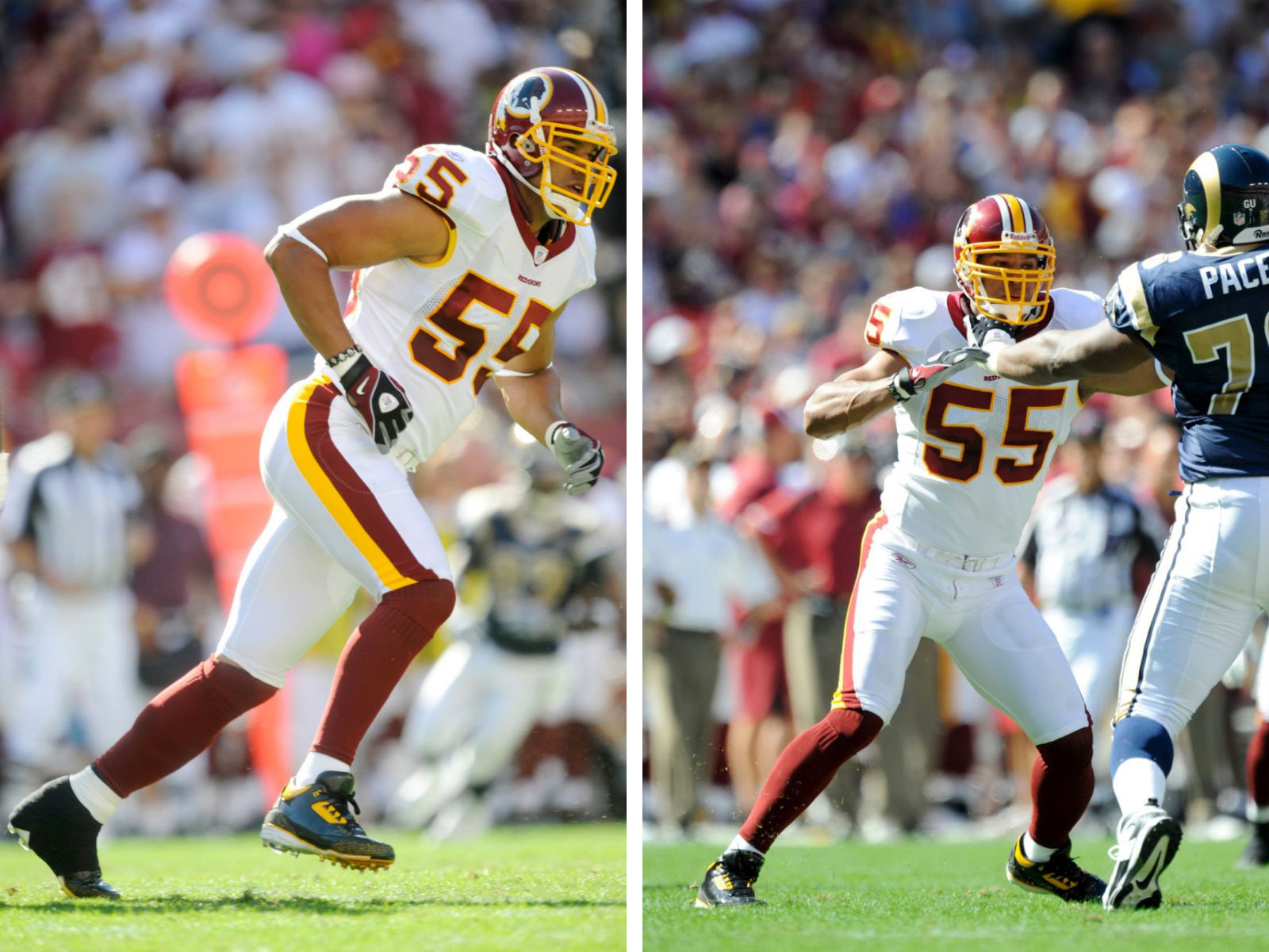 Jason Taylor Wearing Air Jordan III 3 Redskins PE Cleats (8)