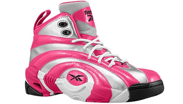 Reebok Shaqnosis Girls Pure Silver/Candy Pink-White-Black
