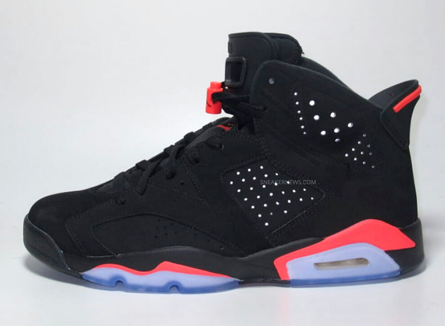 Air Jordan VI 6 Black/Infrared (7)