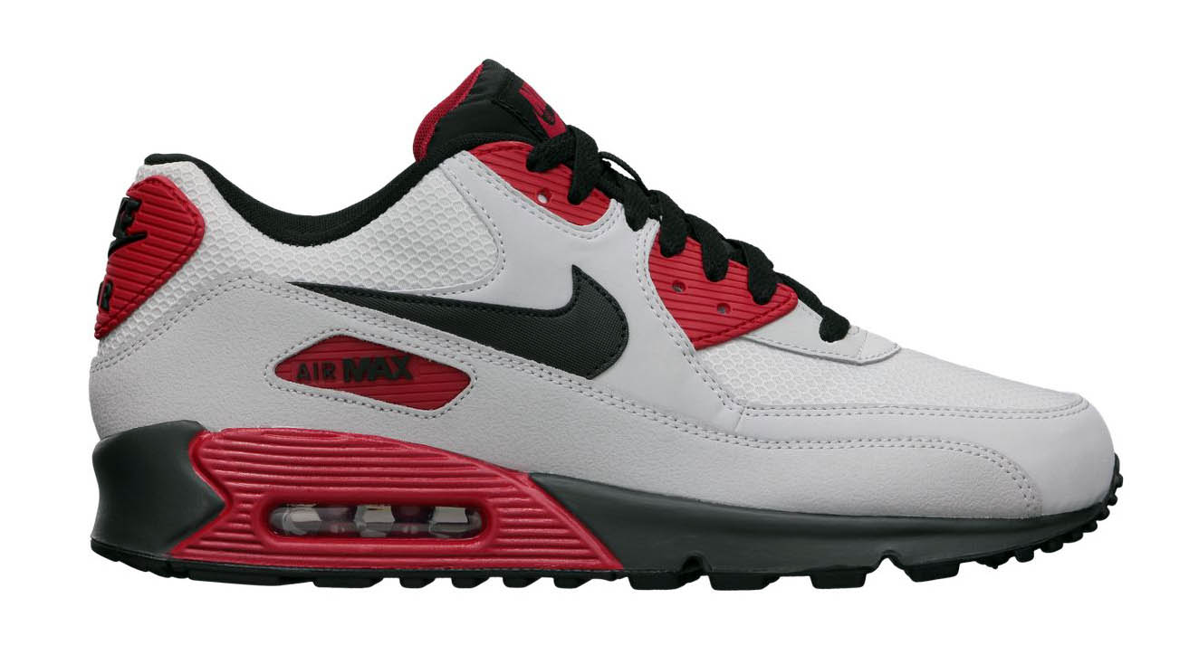 Nike Air Max 90 Essential Strata GreyGym Red | Sole Collector