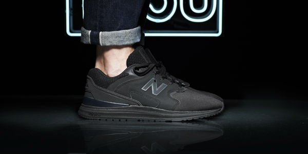 New Balance 1550 Black JD On-Foot Side