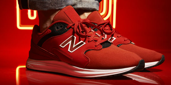 New Balance 1550 Red JD On-Foot