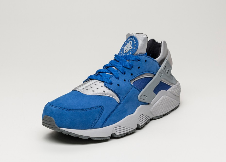 nike huarache blue and grey
