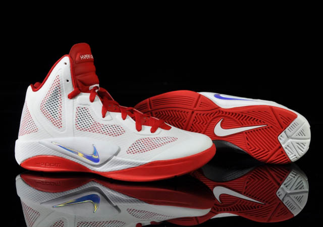 6daf96027952 Nike Zoom Hyperfuse 2011 White Metallic Luster Sport Red 454136-101 Shoe  and Sole