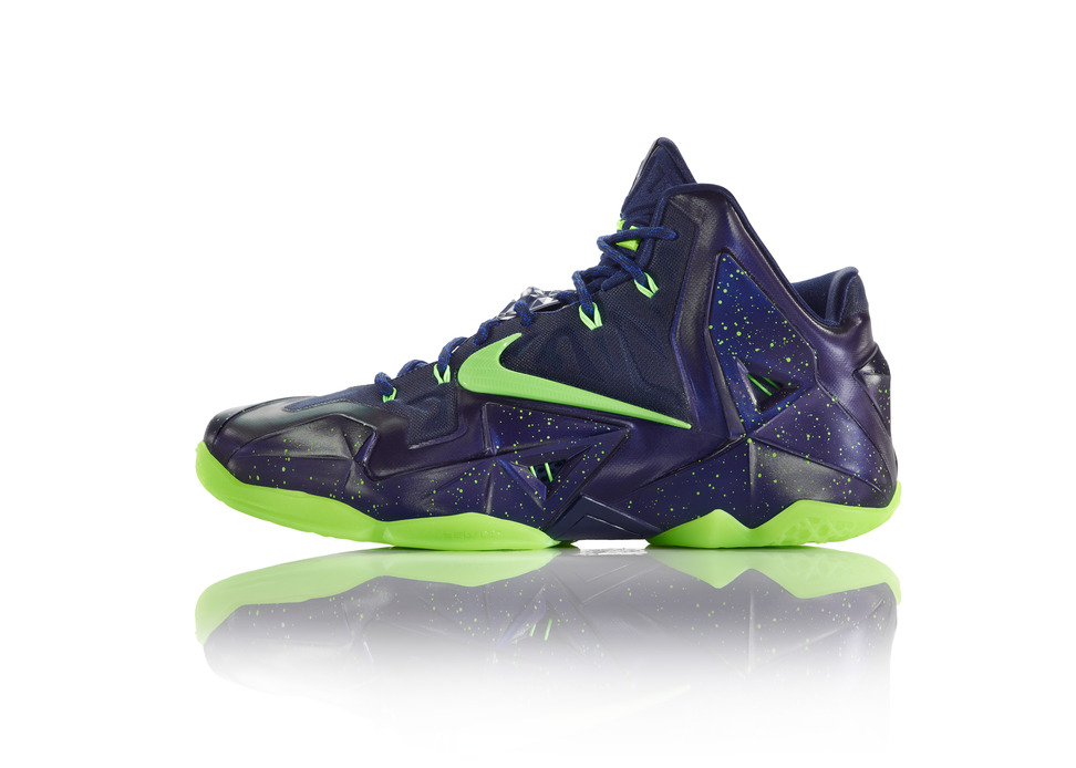 Nike LeBron 11 iD Preview purple volt