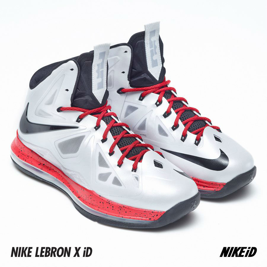 Nike LeBron X iD White Navy Red (6)