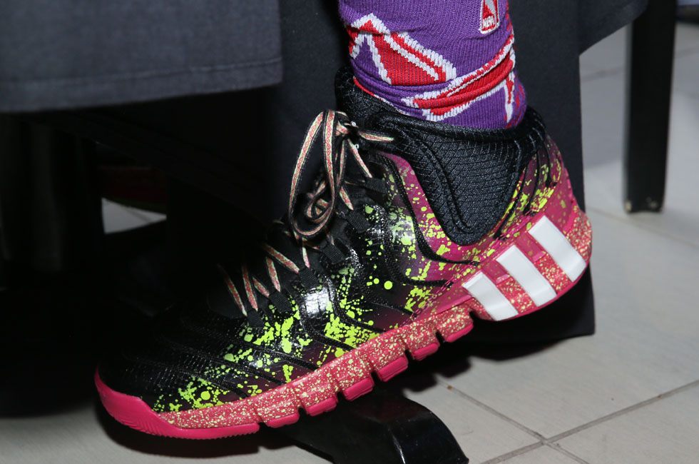 Damian Lillard wearing adidas Crazyquick 2 All-Star