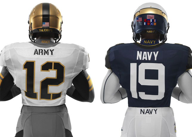 114th Army Navy Game Nike Uniforms back