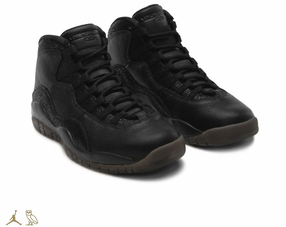 OVO x Air Jordan 10 Black (1)