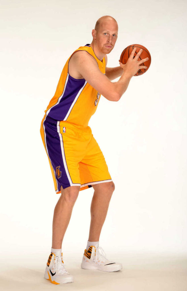 Chris Kaman wearing Nike Zoom Hyperfuse 2013 PE