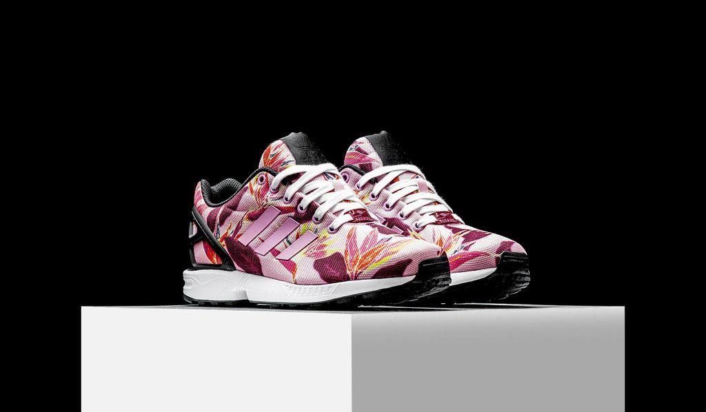 separation shoes 4b583 7775b adidas flux floral pink