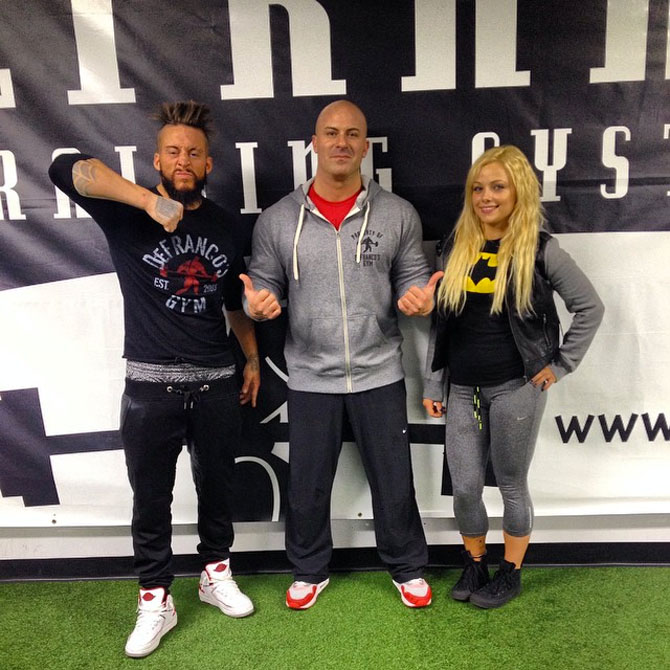 enzo amore wearing the whitered air jordan ii 2