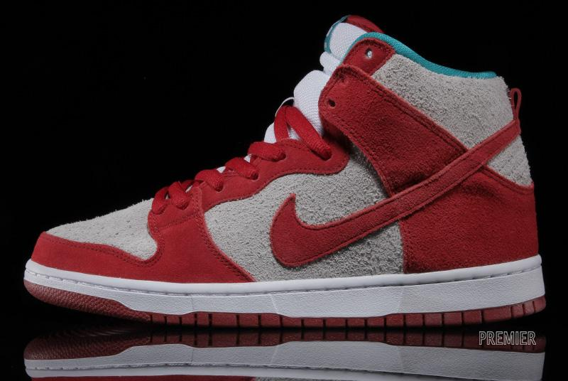 best sneakers ba997 80943 Nike SB Dunk High Pro -  Gym Red White-Turbo Green