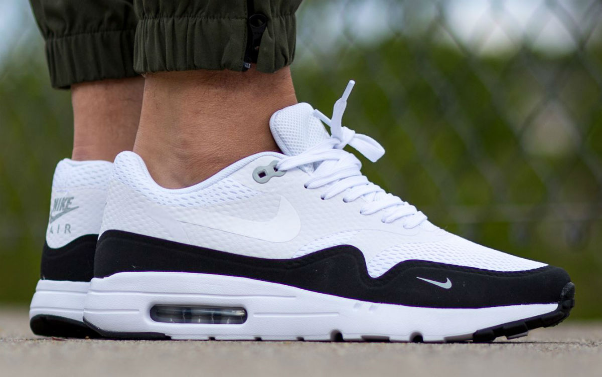 nike air max 1 essential white black wolf grey sole. Black Bedroom Furniture Sets. Home Design Ideas