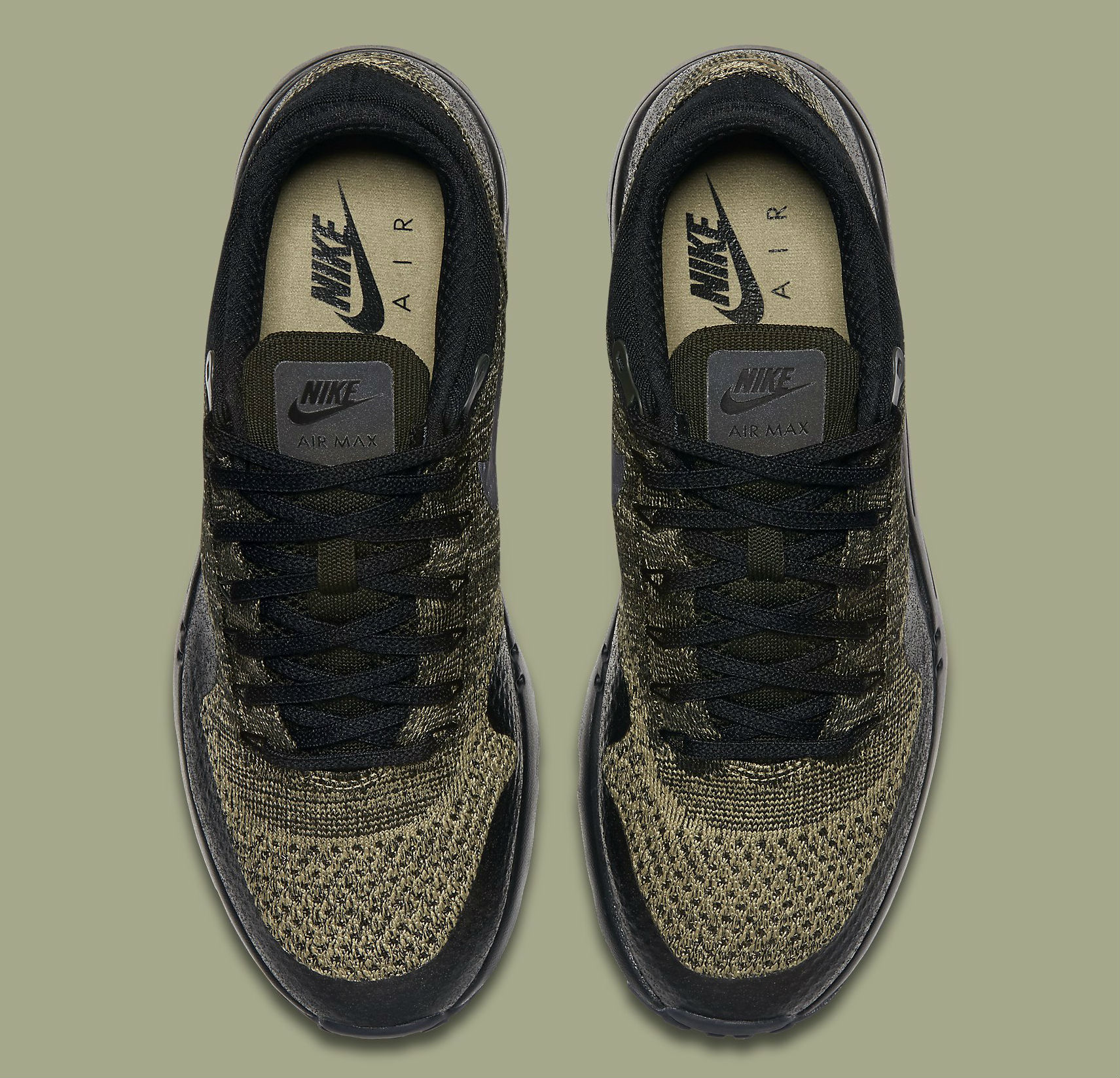 newest collection d64bc 2826d Nike Air Max 1 Ultra Flyknit Neutral OliveBlack-Sequoia Top 856958-203