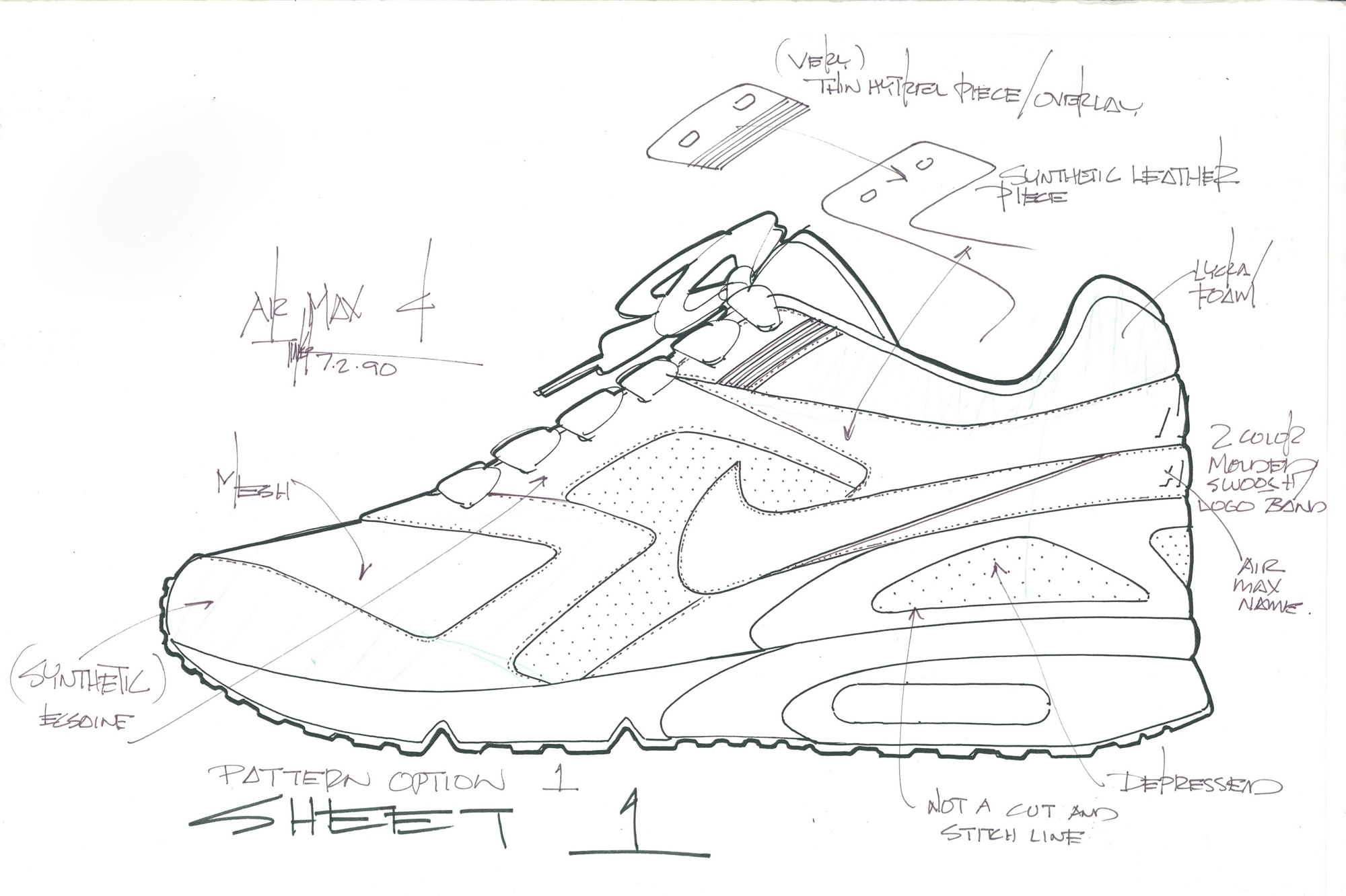 Nike Air Classic Bw Sketches Sole Collector