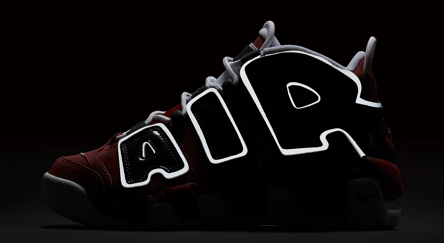 Nike Air More Uptempo Red Black Reflective