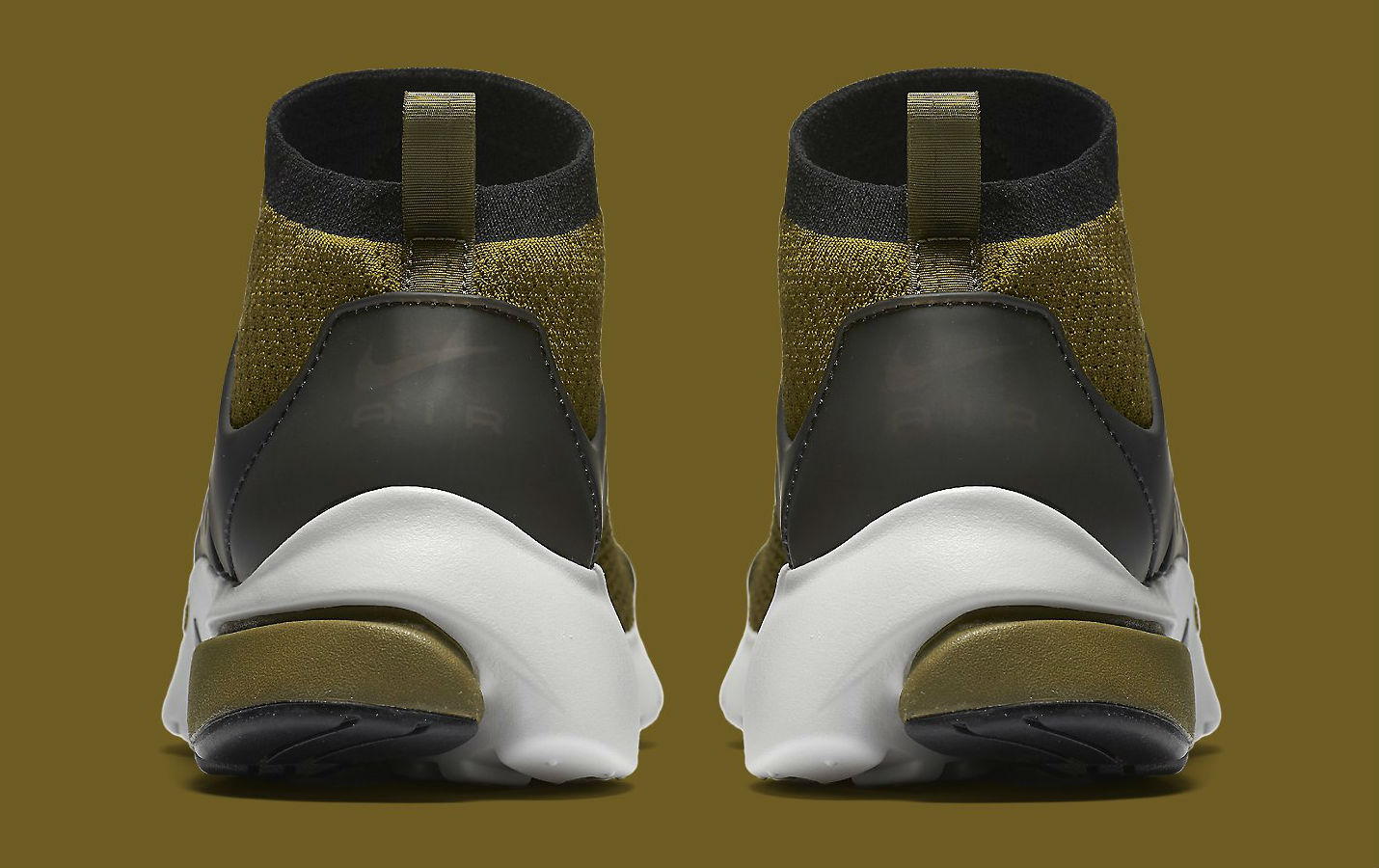 Nike Air Presto Ultra Flyknit Olive Flak Heel 835570-300