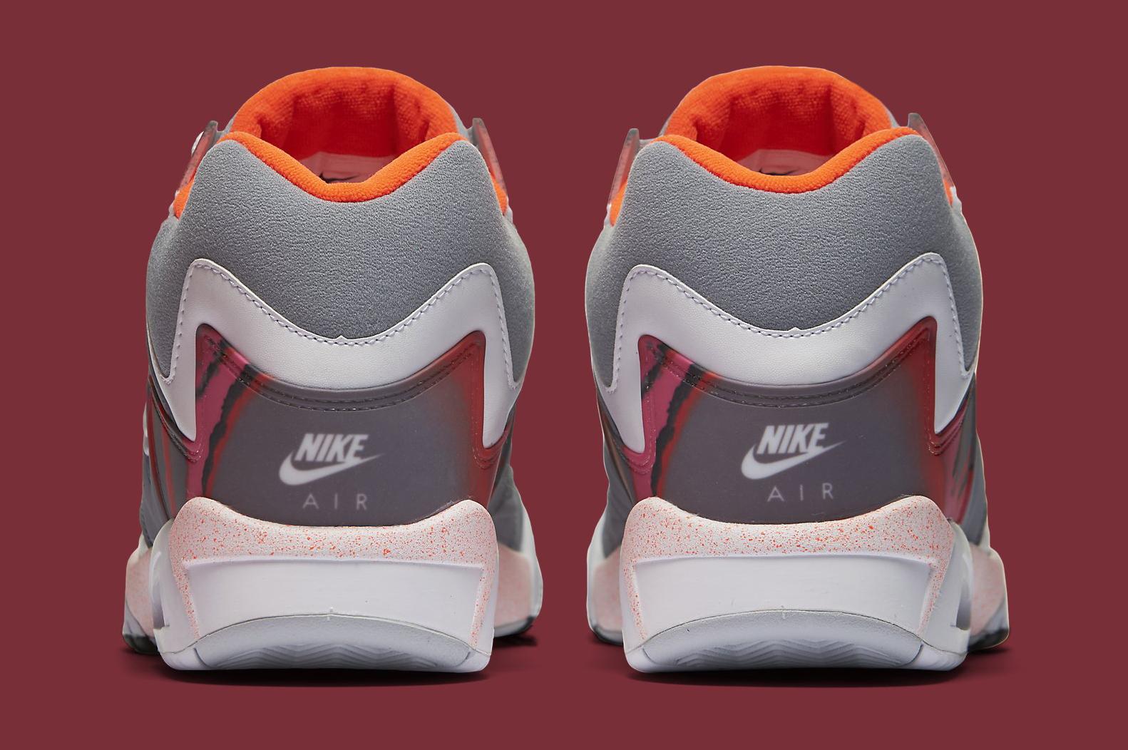 Nike Air Tech Challenge 4 Grey White Crimson Heel