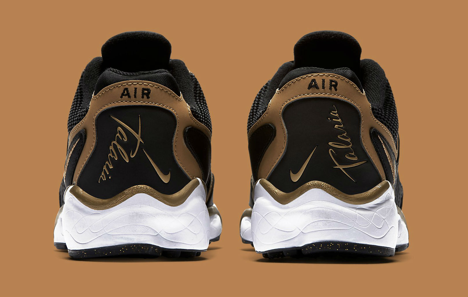 Nike Air Zoom Talaria Black/Gold Heel
