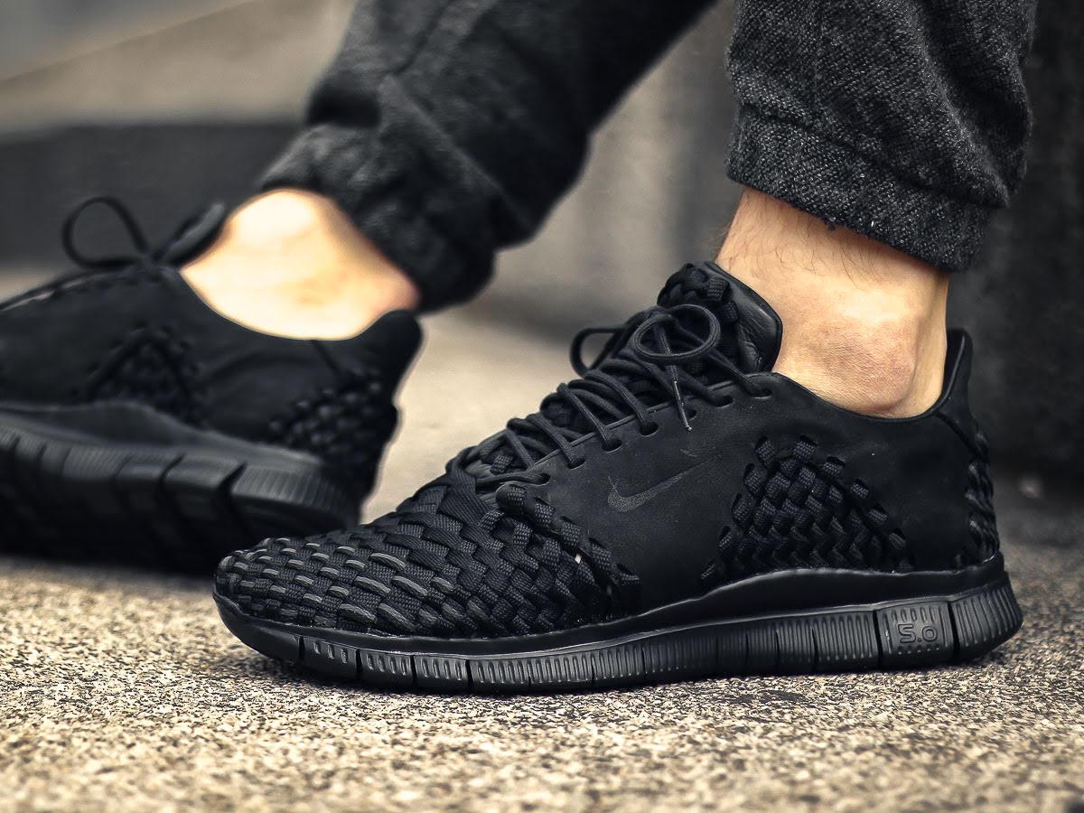 Nike Free Inneva Woven 2 Blackout On-Foot Left 845014-001