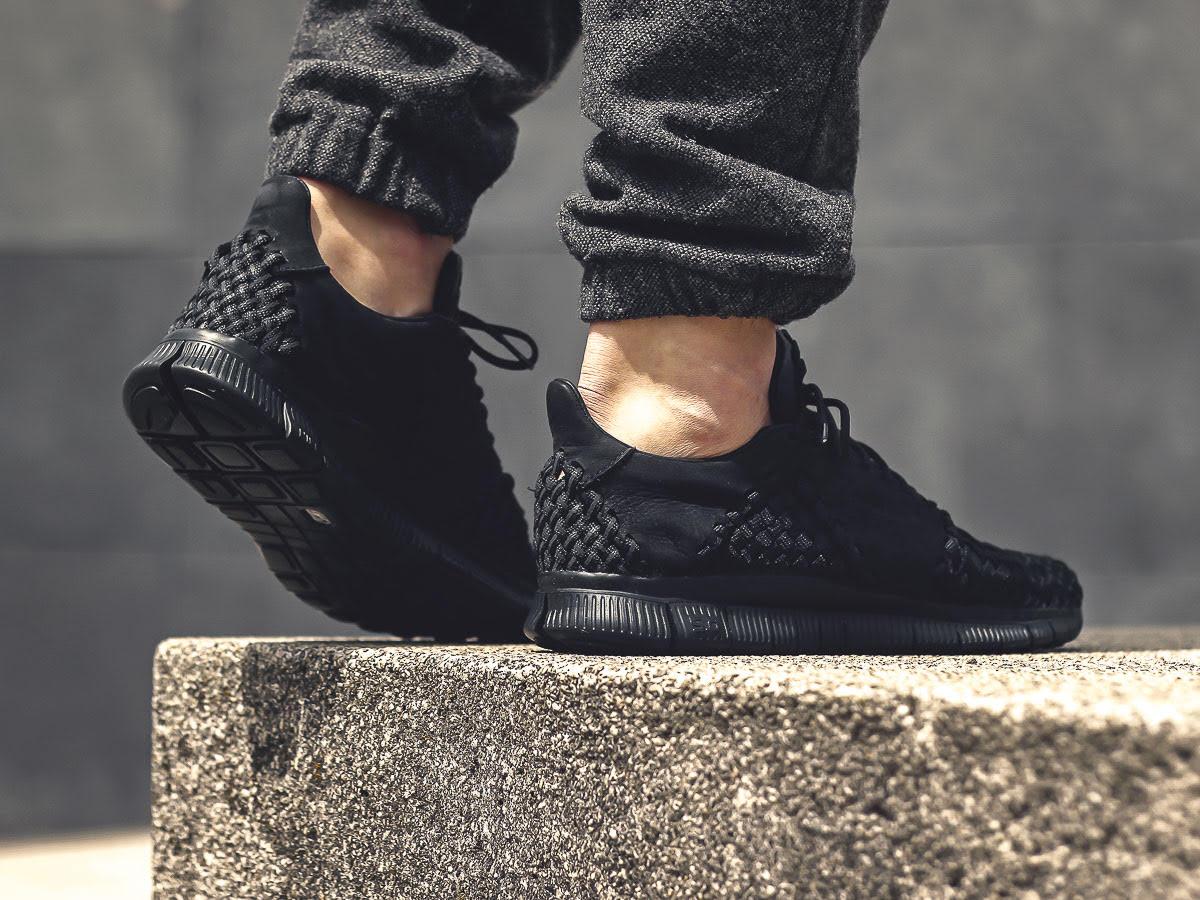 Nike Free Inneva Woven 2 Blackout On-Foot Heel 845014-001