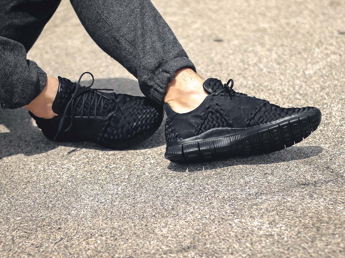 Nike Free Inneva Woven 2 Blackout On-Foot Medial 845014-001