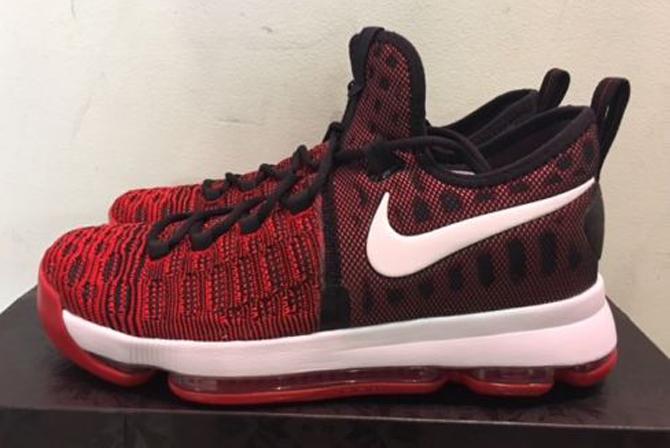 520120ab7bd1 Nike KD 9 Red Black White 843392-610 Profile
