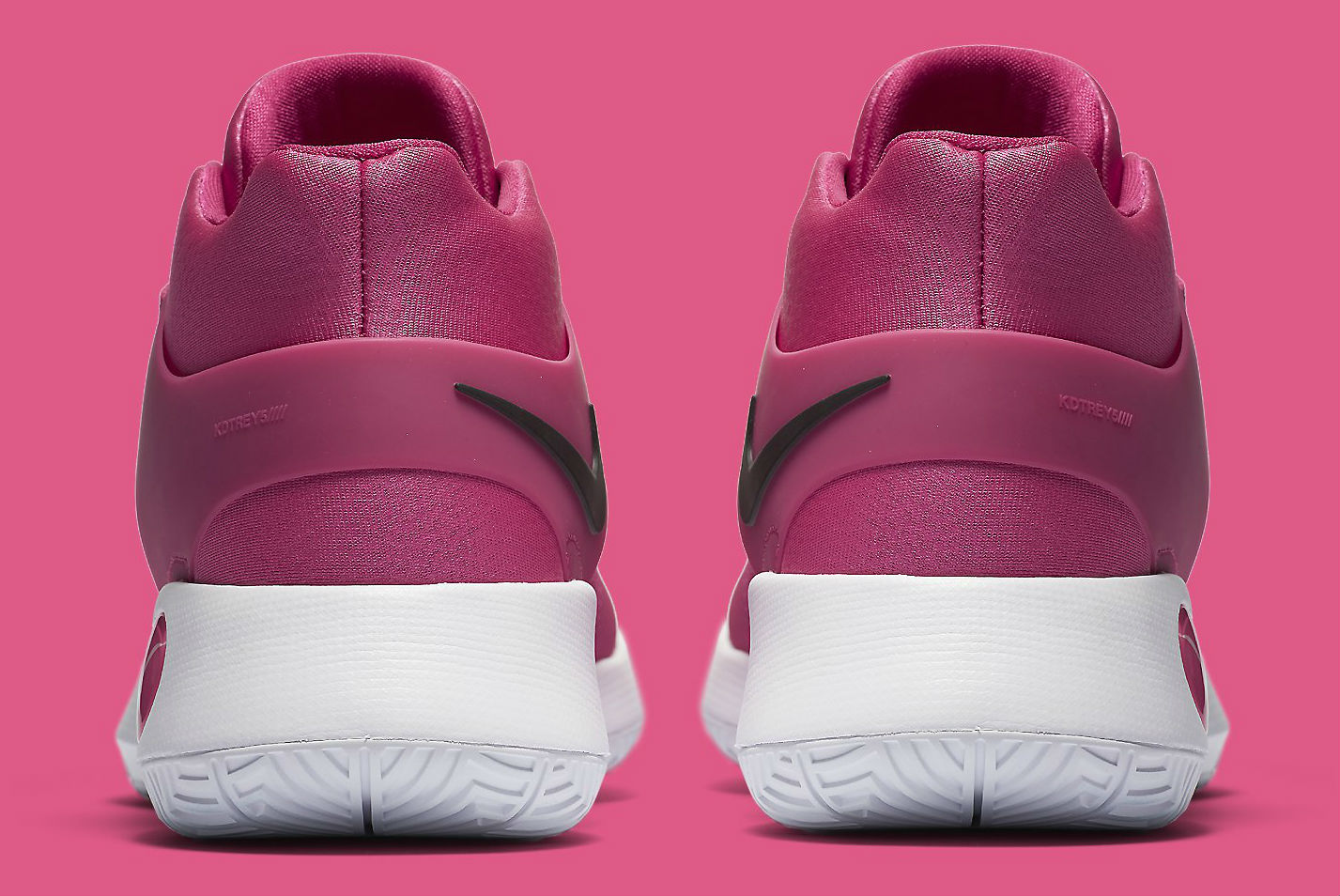 Nike KD Trey 5 IV Think Pink Breast Cancer Kay Yow Heel 844573-606