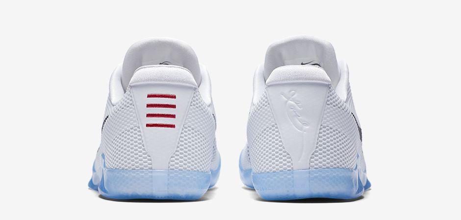 ff45c1d030db Nike Kobe 11 EM White Black Heel 836183-100