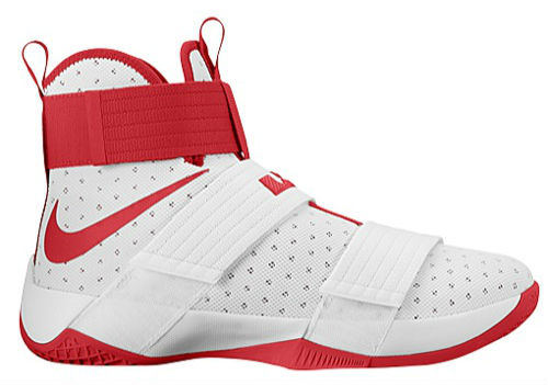newest ad633 fdf5d Nike LeBron Soldier 10 TB White Red