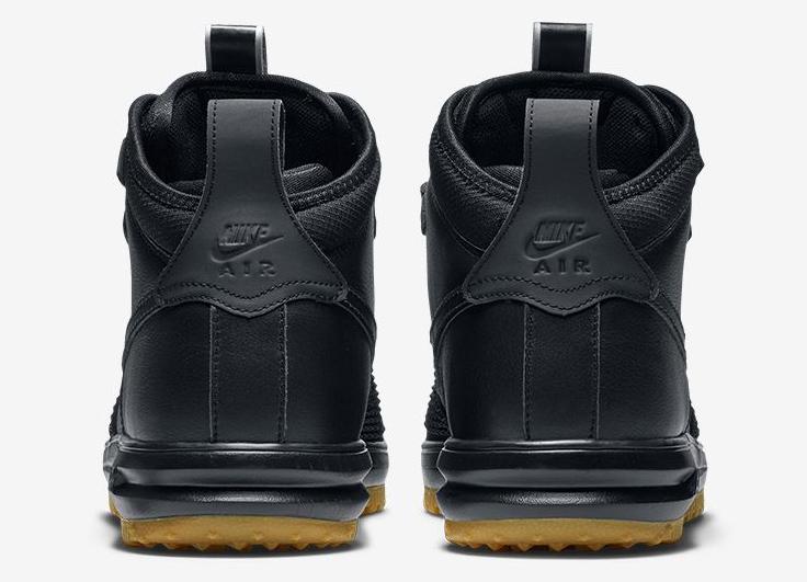 Nike Lunar Force 1 Duckboot Black Gum Heel