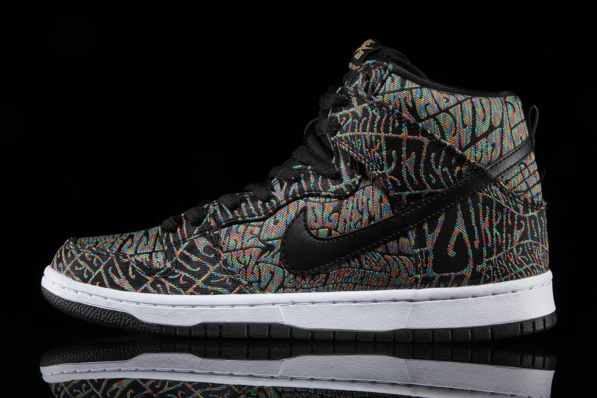 Nike SB Dunk High Psychedelic Concert Poster Profile